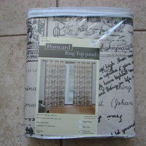 Ring Grommet Paris France Postcard 1 Panel Curtain